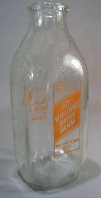 Mt. Willams Dairy Farm Milk Bottle Qt. Mt. Williams Dairy Farm