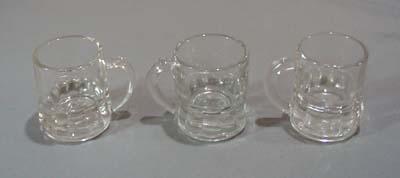 Set of 3 Federal mug shot glasses