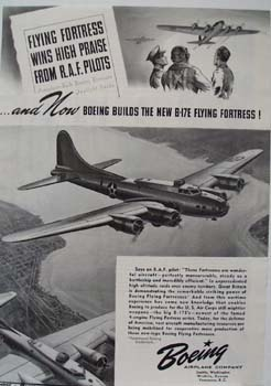 Boeing Builds B-17E Flying Fortress 1941