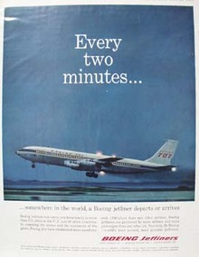 Boeing Jetliner Every Two Minutes Ad 1961
