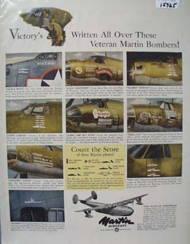 Martin Aircraft Victory Bombers 1944 Ad