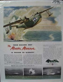 Martin Aircraft Poison to U-Boats Ad 1944
