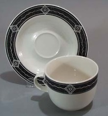 Majesticware Black Diamond Cup and Saucer.