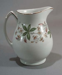 Grindley Arcadia Creamer is Satin White