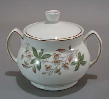 Grindley Arcadia Sugar Bowl is Satin White