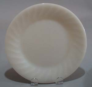 Fire King Ivory Swirl Dinner Plate