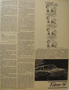 Ford Falcon Keep Talking Linus Ad 1960