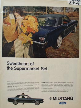 Ford Mustang Sweetheart of Supermarket Ad 1966