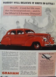 Graham Car Cost so Little Ad 1937