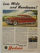 Hudson Low Wide & Handsome Ad 1948