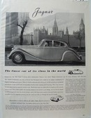 Jaguar Finest Car in It's Class Ad 1949