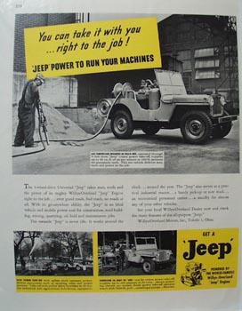 Jeep Take It With You to Job Ad 1946