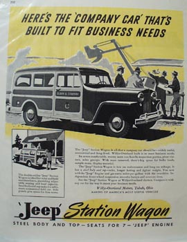 Jeep Station Wagon Company Car Ad 1946