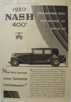 Nash Superior Performance Ad 1930 ad.