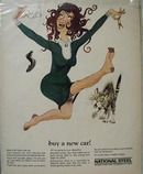 National Steel Woman Buys Car Ad 1967