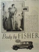 Oakland Body by Fisher Ad 1927