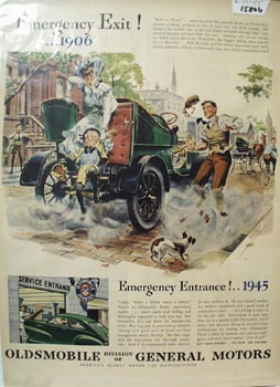 Oldsmobile Emergency Exit Ad 1945