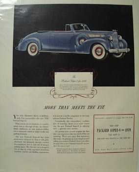 Packard More Than Meets the Eye Ad 1939