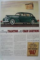 Packard Tradition with Chain Lightning Ad 1939