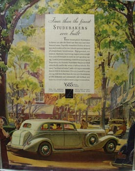 Studebaker Finer Than the Finest Ad 1934