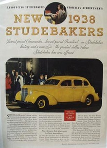 Studebaker  Crowning Achievement Ad 1937