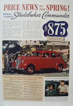 Studebaker Price News of Spring Ad 1938