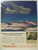 Studebaker Builds Engines for Boeing Ad 1944