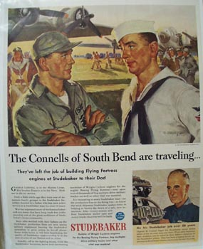 Studebaker Connells of So Bend are Traveling Ad 1944