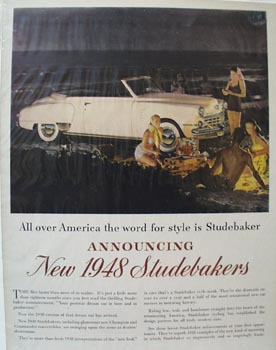 Studebaker Word for Style Ad 1948