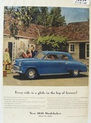 Studebaker Ride in lap of Luxury Ad 1948