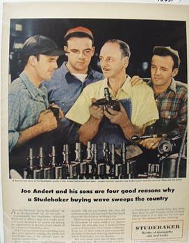 Studebaker's Joe Andert & Sons Ad 1950