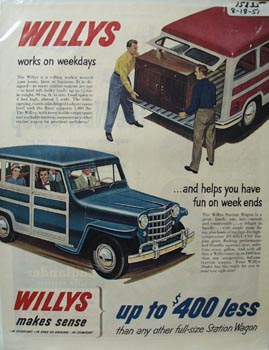 Willly's Works on Weekdays Ad 1951