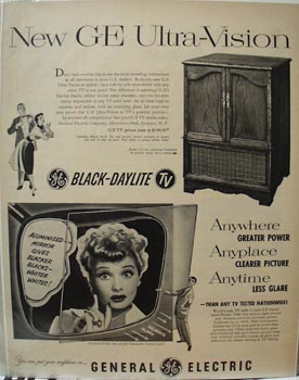 G. E. Ultra Vision & Lucille Ball Ad 1952