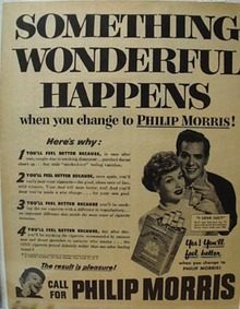 Phillip Morris Lucille Ball Something Wonderful Ad 1952