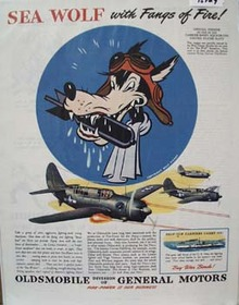 Oldsmobile Sea Wolf Ad 1944