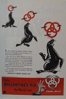 Ballantine Ale with Penguins Ad 1939