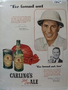 Carling's Ale I've Found Out Ad 1950