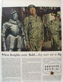 Anheuser Busch When Knights were Bold Ad 1945
