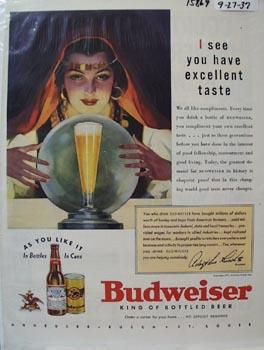 Budweiser Have Excellent Taste Ad 1937