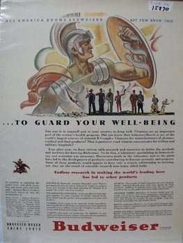 Budweiser Guard Your Well Being Ad 1942