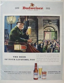 Budweiser Gentleman in Carriage Ad 1952
