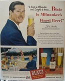 Blatz Beer Lived in Milwaukee Ad 1948