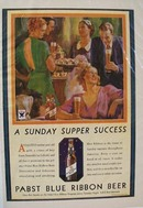 Pabst Sunday Supper Success Ad 1934
