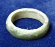 Jade ring, solid piece of jade hollowed out to form a ring,