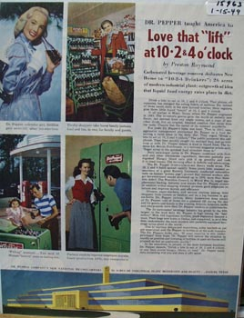 Dr Pepper Love that Lift Ad 1949