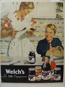 Welch's Grapelade Mother & Son Ad 1947
