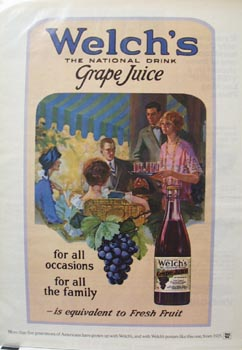 Welch's Grape Juice For The Family Ad 1976