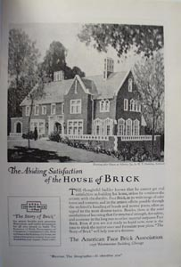 American Face Brick Abiding Satisfaction Ad 1920