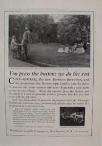 Eastman Kodak Press the Button Ad 1924