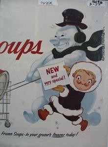 Campbell's Soups Now Frozen Soups Ad 1955